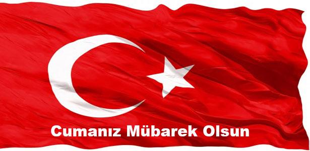 türk bayraklı cuma mesajları resimli