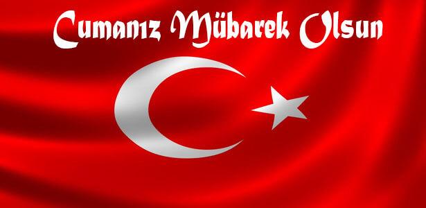 turk bayrakli guzel resimli cuma mesajlari