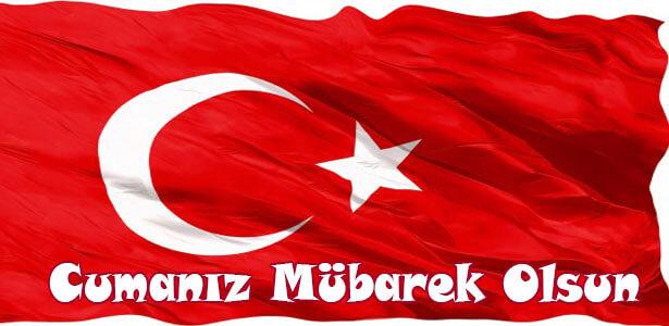 güzel türk bayraklı cuma mesajları